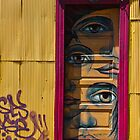 Eye in yellow door by vesa50
