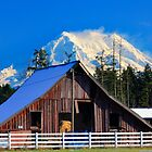 Mount Rainier and Barn by Inge Johnsson