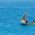 Shell Fisherman in Small Sailboat by dbvirago