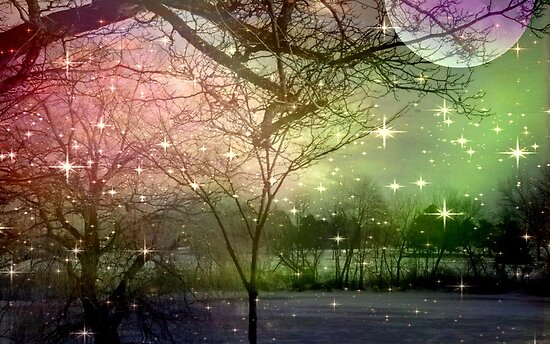 A Night of Fantasy on a Moon Lit Night ©  by Dawn M. Becker