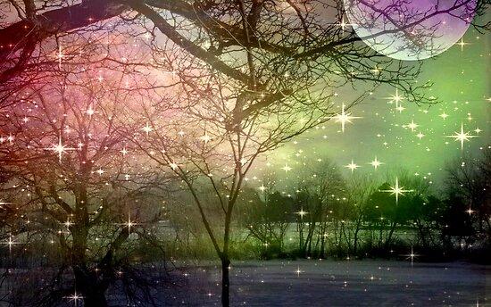 A Night of Fantasy on a Moon Lit Night ©  by Dawn M. Becker