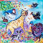 Nugget and the Forget me not Cat by Margaret Banson