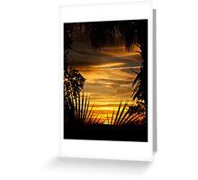 Sunset On Savage Island Greeting Card