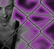 Purple Damon Zex Fence by doverpoet