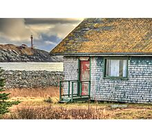 Schoolhouse and Lighthouse Photographic Print