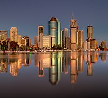 Brisbane reflection 2 by Chris Lofqvist