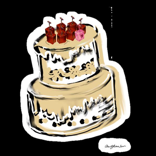 Dynamite Tee Cake by Azellah