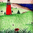 Red Lighthouse by PoeticHeartArt