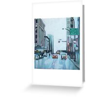 Downtown Lights, acrylic on canvas Greeting Card