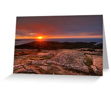 Sunrise from Cadillac Mountain Greeting Card