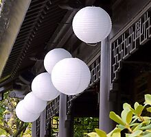 white paper lanterns by tego53