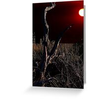 Red Sun Greeting Card