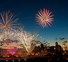Fireworks at the Calgary Stampede by Scott Richards