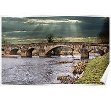 Edisford Bridge, Clitheroe, Lancs, UK. Poster