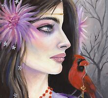 Isabella and the Cardinal by KimTurner