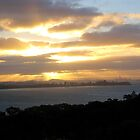 Sunset from Waiheke Island by Leah Gay