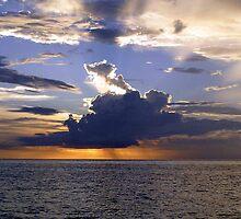 Sunset, Mabul Island, Sumatra  by suellewellyn