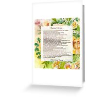 The Art of Marriage Greeting Card