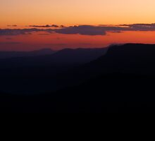 101229 Blue Mountians Echo Point at sunset 2 by Jaxybelle