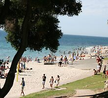 Cooling Off  At Cottesloe Beach by shazart