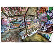 Graffiti and reflection Poster