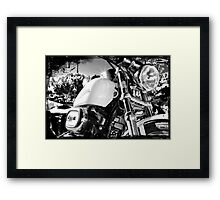 Sporty flash. Framed Print