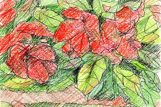 Red Flowers by Artistuk