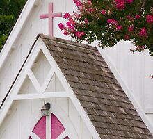 """Heavenly Pink"" - church in Solomons, Maryland by John Hartung"