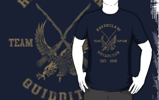 Ravenclaw Quidditch Athletic Tee Harry Potter Shirt by spacemonkeydr