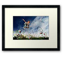 Skateboarder and friends Framed Print