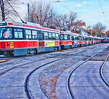 TTC Toronto Street Car Yard by Moodycamera Photography