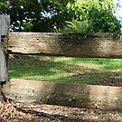 Wooden Fence by aussiebushstick