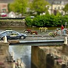 Pivoting Bridge in Redon, Brittany, France   Tilt/ Shift by Buckwhite