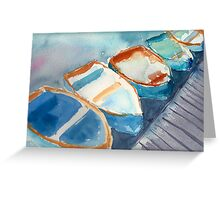Boats...A Few of My Favorite Things Greeting Card