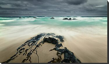 Stormy Day, Beer Barrel Beach, Tasmania by NickMonk