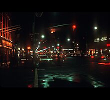 Greenwich Village at Night by rchrd