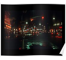 Greenwich Village at Night Poster