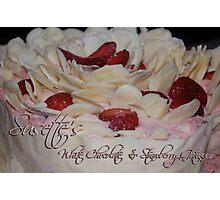 Susette's White Chocolate & Strawberry Gateau Photographic Print