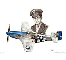 """The Last WWII Ace - Major Alden Rigby"" Photographic Print"