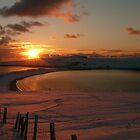 Sunset Over Minn Beach by Redbarron