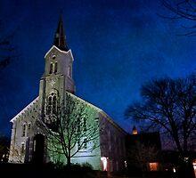 Church at Night by David  Guidas