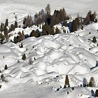 Humps and Bumps above Plagne Centre, France by Chris Monks