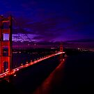 Golden Gate Sunrise HDR by R. Albisurez