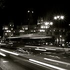 Madrid Street at Night by kweirich