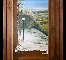 'Through the Wardrobe' - Fantasy, trompe l'oeil style by Eyes-of-Sol