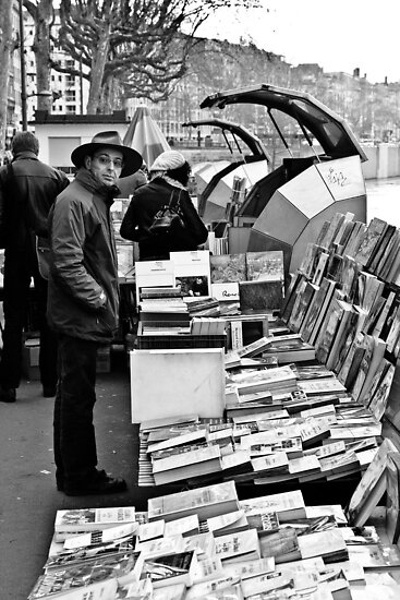 Book sellers on the Rhone by Alex Howen