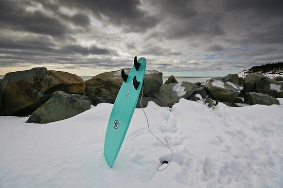 Surfboard in the Snow by NovaScOcean