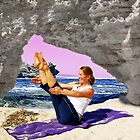 Yoga by the sea by Julia Harwood