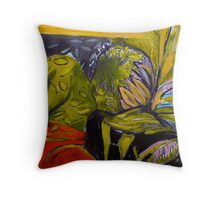 Two of a Kind after The Lovers by Magritte Throw Pillow