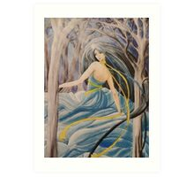 Dancing in the forest Art Print